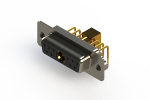 630-11W1240-7T2 - Right-angle Power Combo D-Sub Connector