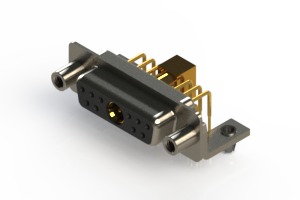 630-11W1240-7T5 - Right-angle Power Combo D-Sub Connector