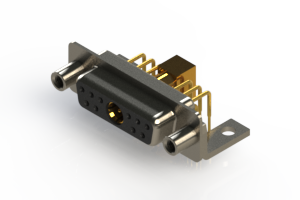 630-11W1240-7T6 - Right-angle Power Combo D-Sub Connector