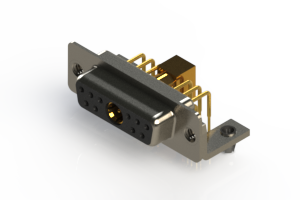630-11W1240-7TB - Right-angle Power Combo D-Sub Connector