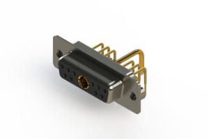 630-11W1250-1N2 - Right-angle Power Combo D-Sub Connector