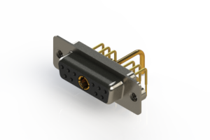 630-11W1250-1NA - Right-angle Power Combo D-Sub Connector