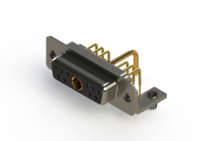 630-11W1250-1NB - Right-angle Power Combo D-Sub Connector