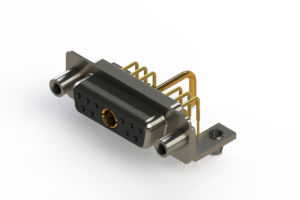 630-11W1250-1ND - Right-angle Power Combo D-Sub Connector