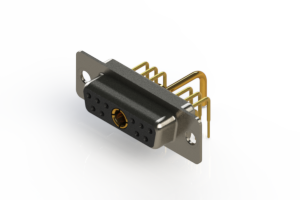 630-11W1250-1T1 - Right-angle Power Combo D-Sub Connector