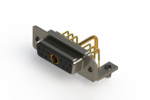 630-11W1250-1T3 - Right-angle Power Combo D-Sub Connector