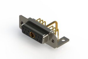 630-11W1250-1T4 - Right-angle Power Combo D-Sub Connector
