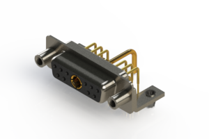 630-11W1250-1T5 - Right-angle Power Combo D-Sub Connector