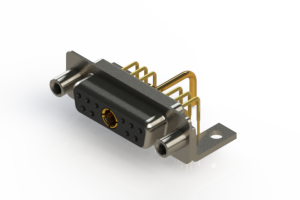 630-11W1250-1T6 - Right-angle Power Combo D-Sub Connector