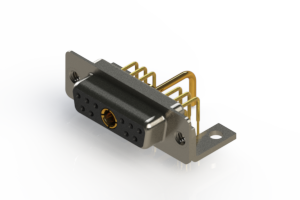 630-11W1250-1TC - Right-angle Power Combo D-Sub Connector