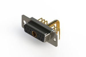 630-11W1250-2N1 - Right-angle Power Combo D-Sub Connector