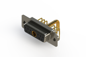 630-11W1250-2N2 - Right-angle Power Combo D-Sub Connector