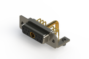 630-11W1250-2N3 - Right-angle Power Combo D-Sub Connector