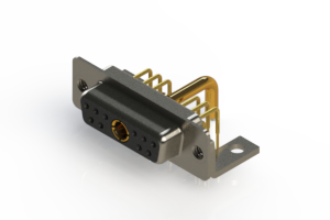 630-11W1250-2N4 - Right-angle Power Combo D-Sub Connector
