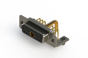 630-11W1250-2NB - Right-angle Power Combo D-Sub Connector