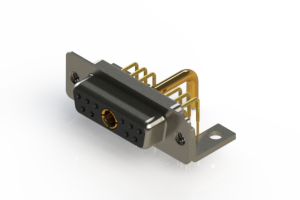 630-11W1250-2NC - Right-angle Power Combo D-Sub Connector