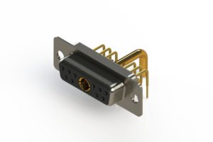 630-11W1250-2T1 - Right-angle Power Combo D-Sub Connector