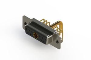 630-11W1250-2T2 - Right-angle Power Combo D-Sub Connector