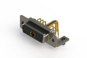 630-11W1250-2T3 - Right-angle Power Combo D-Sub Connector