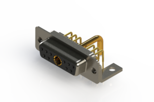 630-11W1250-2T4 - Right-angle Power Combo D-Sub Connector