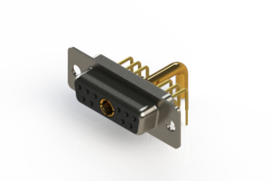 630-11W1250-3N1 - Right-angle Power Combo D-Sub Connector
