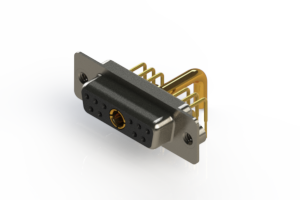 630-11W1250-3N2 - Right-angle Power Combo D-Sub Connector