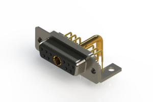 630-11W1250-3N4 - Right-angle Power Combo D-Sub Connector