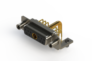 630-11W1250-3ND - Right-angle Power Combo D-Sub Connector