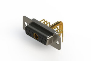 630-11W1250-3T1 - Right-angle Power Combo D-Sub Connector