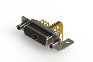 630-11W1250-3T6 - Right-angle Power Combo D-Sub Connector