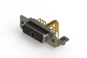 630-11W1250-3TB - Right-angle Power Combo D-Sub Connector
