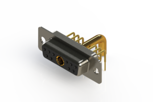 630-11W1250-4N1 - Right-angle Power Combo D-Sub Connector