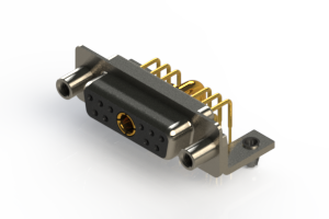 630-11W1640-2ND - Right-angle Power Combo D-Sub Connector