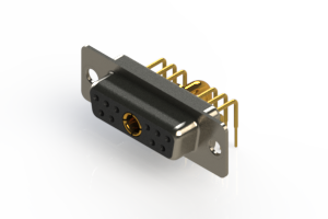 630-11W1640-2T1 - Right-angle Power Combo D-Sub Connector