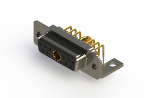 630-11W1640-2T4 - Right-angle Power Combo D-Sub Connector
