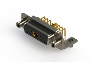 630-11W1640-2T5 - Right-angle Power Combo D-Sub Connector