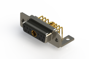 630-11W1640-2TC - Right-angle Power Combo D-Sub Connector