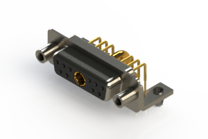 630-11W1640-3N5 - Right-angle Power Combo D-Sub Connector
