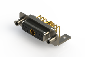 630-11W1640-3N6 - Right-angle Power Combo D-Sub Connector