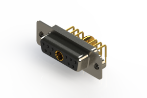630-11W1640-3NA - Right-angle Power Combo D-Sub Connector