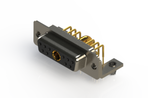 630-11W1640-3NB - Right-angle Power Combo D-Sub Connector