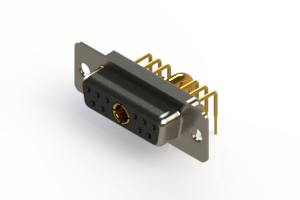 630-11W1640-3T1 - Right-angle Power Combo D-Sub Connector