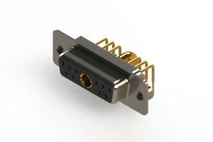630-11W1640-3T2 - Right-angle Power Combo D-Sub Connector