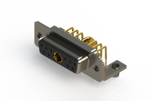 630-11W1640-3T3 - Right-angle Power Combo D-Sub Connector