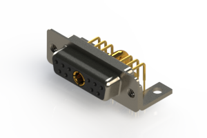 630-11W1640-3T4 - Right-angle Power Combo D-Sub Connector