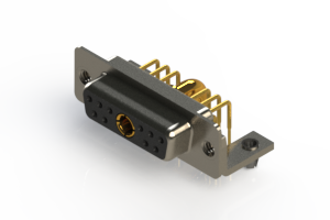 630-11W1640-4NB - Right-angle Power Combo D-Sub Connector