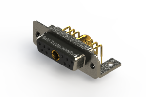 630-11W1640-4NC - Right-angle Power Combo D-Sub Connector