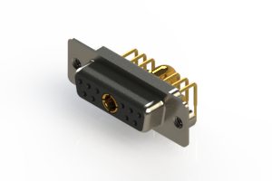 630-11W1640-4T2 - Right-angle Power Combo D-Sub Connector