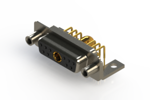 630-11W1640-4T6 - Right-angle Power Combo D-Sub Connector
