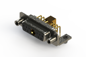 630-11W1640-7ND - Right-angle Power Combo D-Sub Connector